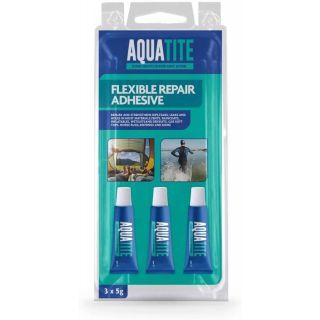 3 x 5g Aquatite Flexible Repair Adhesive Glue