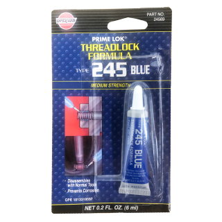 VERSACHEM 245 Blue THREADLOCK Medium Strength Thread Lock Prime Lok 6ml Tube