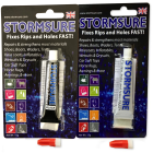 stormsure flexible repair adhesive 15g blister clear black bundle