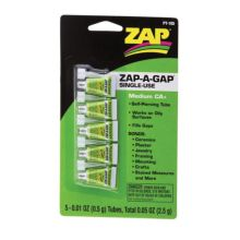 ZAP Zap-A-Gap Single Use Medium CA+ Tubes on a blister card PT-105