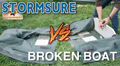 Watch A Boat Get Cut In Half & Put Back Together With Stormsure Adhesive [VIDEO]