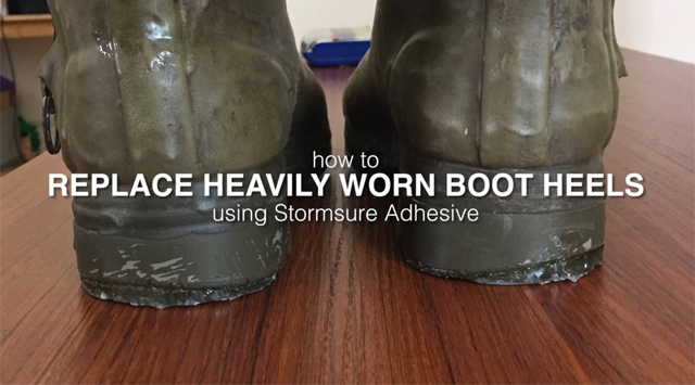 How To Replace Heavily Worn Rubber Boot Heels